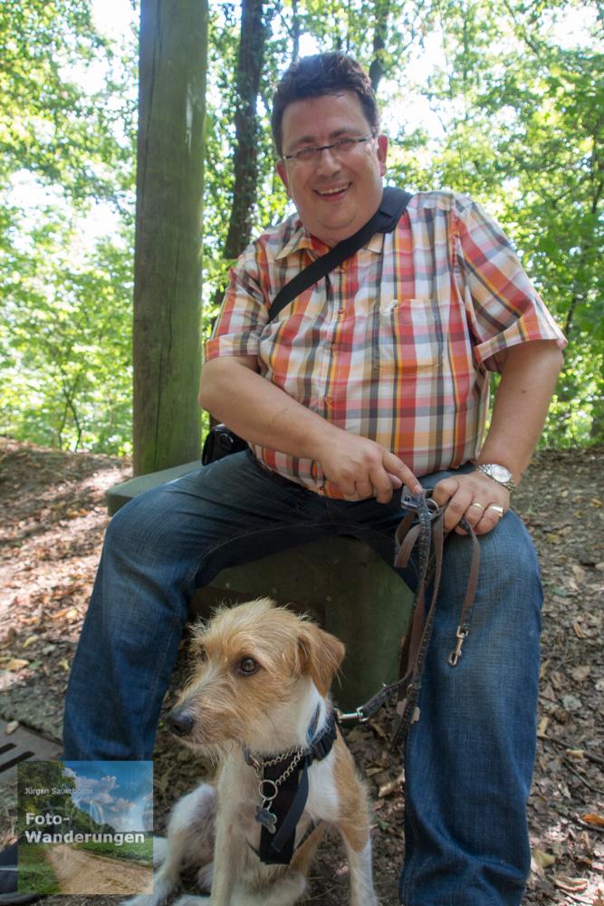 Kurze Rast mit Hund