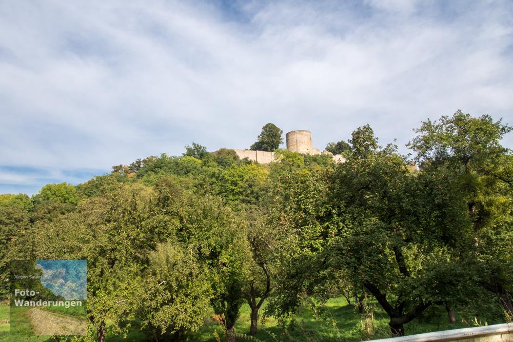 Blick auf Burgruine Blankenberg